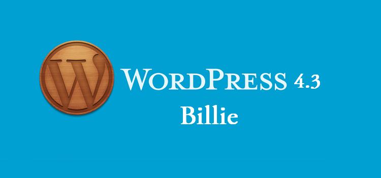 wordpress 4.3 billie