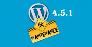 wordpress 4.5.1 maintenance
