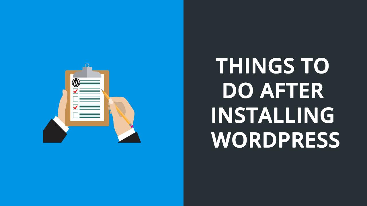 important-things-installing-wordpress